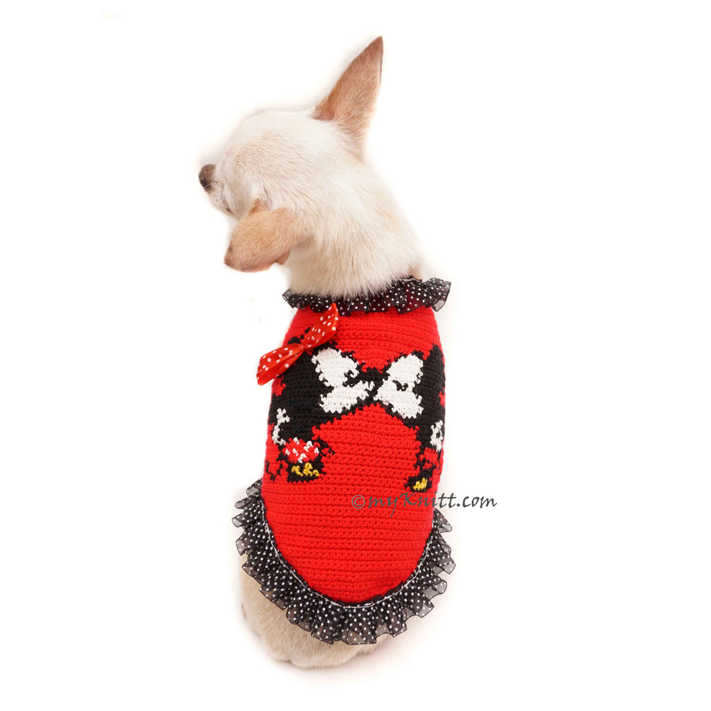 Mickey and Minnie Mouse Cross Stitch Dog Costumes DF112