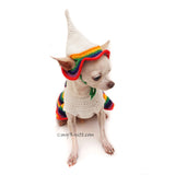 Funny Pet Costume Dutch Girl Dog Dresses by Myknitt
