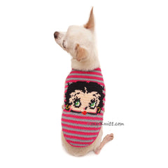 Betty Boop Dog Clothes, Dog Halloween Costumes DF116 by Myknitt