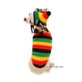 Rastafarian Dog Costume, Chihuahua Clothes by Myknitt