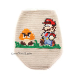 Super Mario Bros Cross Stitch Crochet Dog Clothes by Myknitt