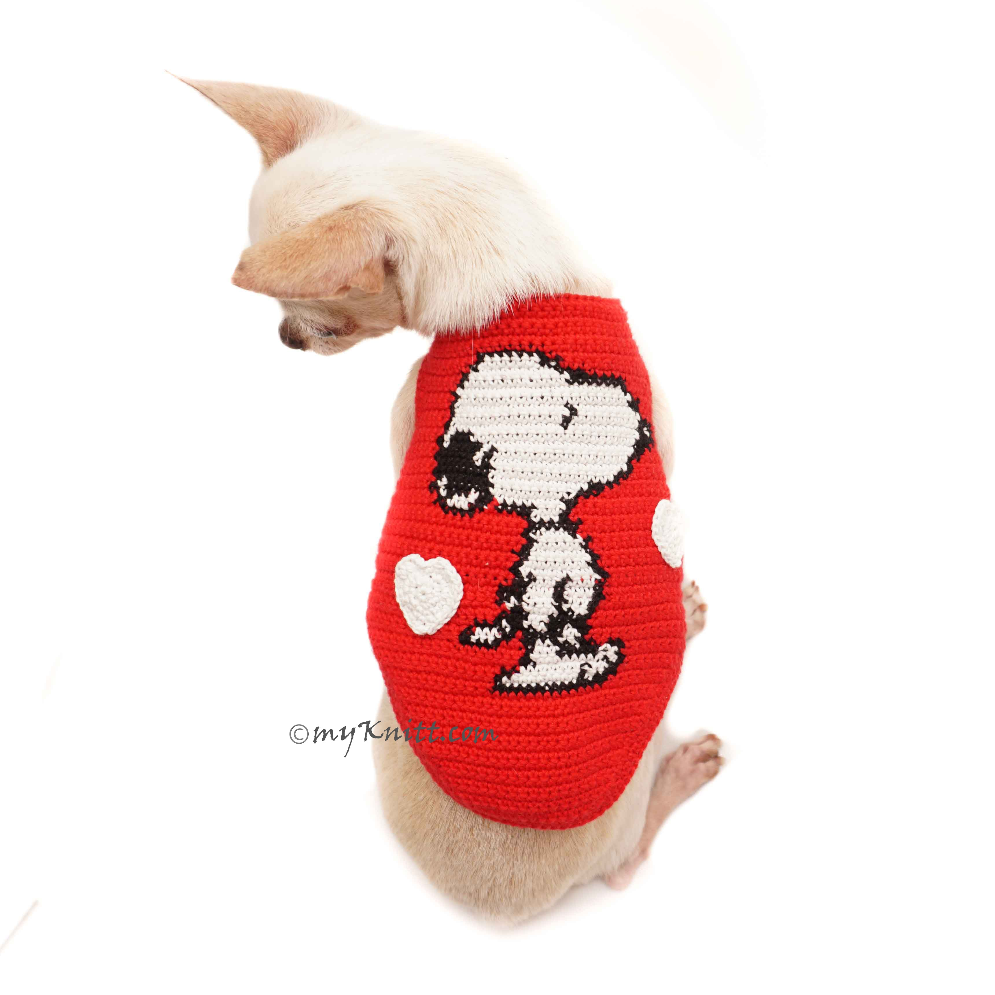 Snoopy Charlie Brown Cross Stitch Dog Costumes DF120 by Myknitt
