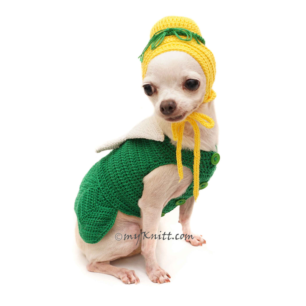 Tinkerbell Costume, Cute Pet Costume, Crochet Dog Hat DF121