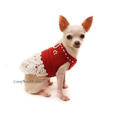 Burgundy Dog Dress, Chihuahua Dog Dress Wedding, Personalized Dog Clothes DF127