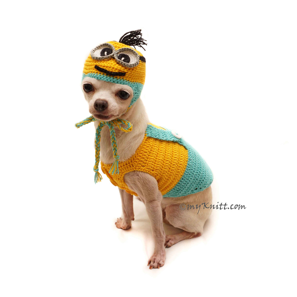 Minion Dog Costume, Chihuahua Costume, Despicable Me Dog Costume DF130