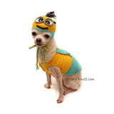 Minion Dog Costume, Chihuahua Costume, Despicable Me Dog Costume by Myknitt