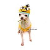 Minion Dog Hats, Minion Crochet Dog Hat, Halloween Dog Hat by Myknitt
