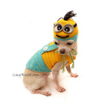Funny Dog Costume, Chihuahua Costume, Halloween Dog Costume by Myknitt