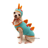 Dinosaur Dog Clothes, Funny Dog Clothes, Myknitt
