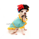 Rastafarian Dog Wig Crochet by Myknitt, Birthday Party Dog Costume
