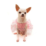 Chihuahua Wedding Dress Tutu by Myknitt Designer Dog Clothes