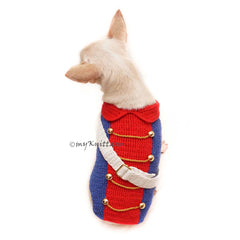 4th Of July Dog Clothes, American Patriotic Royal Dog Costume DF139 by Myknitt