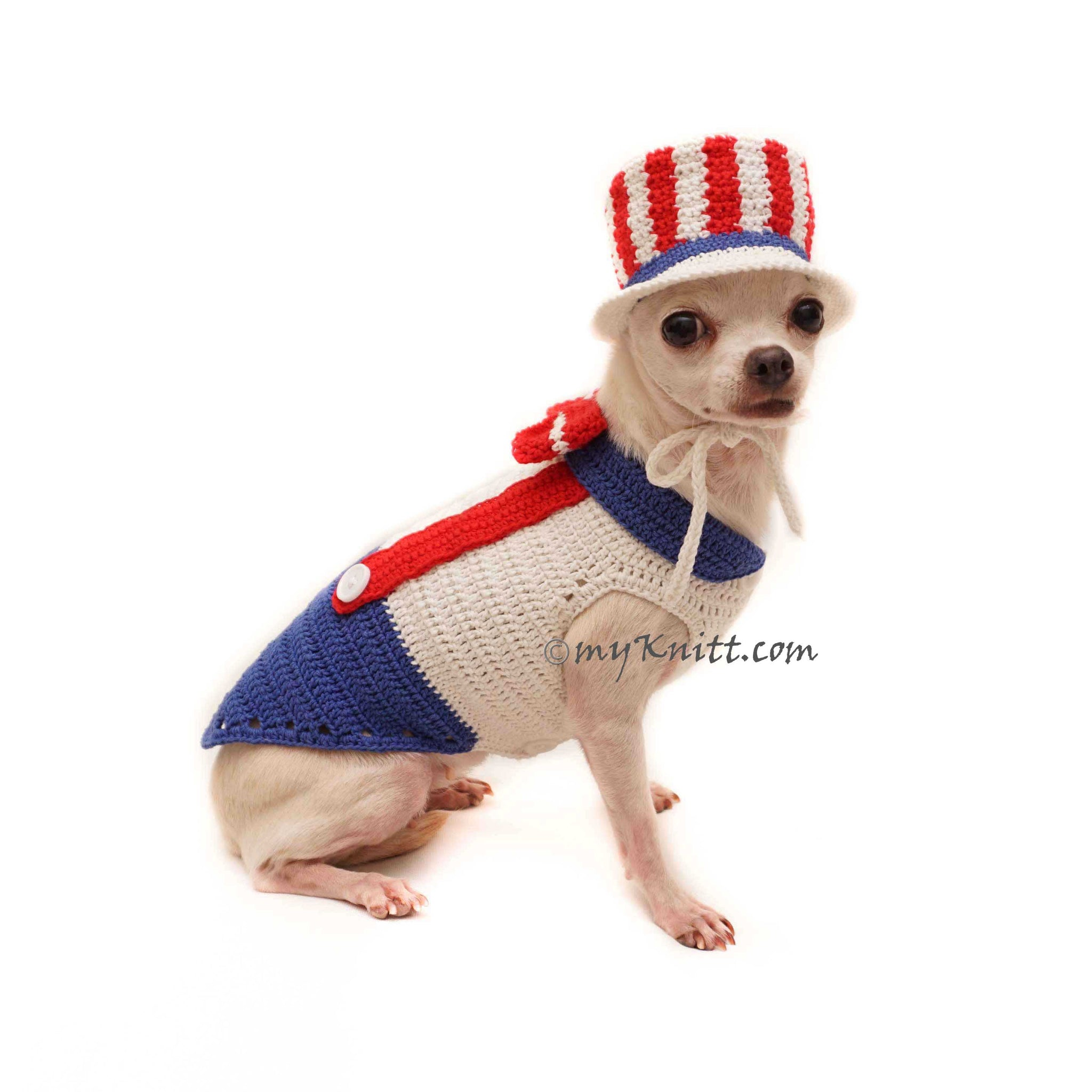 a98e5ab8d72 Uncle Sam Top Hat for Dog