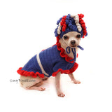 July 4th Costume for Pets, Patriotic Day Chihuahua Costume by Myknitt