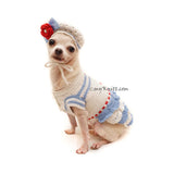 Cute Chihuahua Dress with Chihuahua Hat Crochet by Myknitt