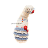 Custom Dog Clothes Ruffle Dress with Dog Hat Crochet by Myknitt
