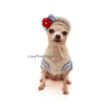 Cute Dog Hat Crochet, Dog Hat Beanie, Dog Beret, Myknitt Designer Dog Clothes