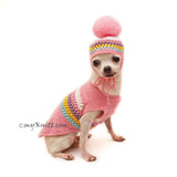Cute Dog Clothes Pink Crochet by Myknitt
