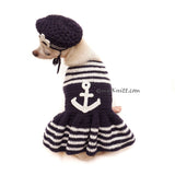 US Marine Dog Costume with Beret by Myknitt