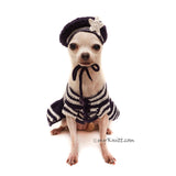 US Navy Sailor Dog Beret Crochet by Myknitt