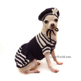 Marine Navy Costume for Pets Handmade Crochet by Myknitt
