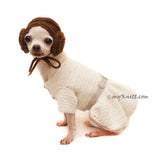Princess Leia Dog Hat Crochet by Myknitt