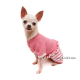 Long Leg Dog Sweater Pink, Pink Dog Pajamas, Sleeping Dog Clothes DF159 Myknitt
