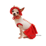 Red Dress for Chihuahua, Chihuahua Dress Custom by Myknitt