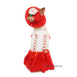 Cute Dog Clothes, Dog Clothes Red, Dog Sun Hat by Myknitt