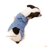Cute Dog Clothes, Blue Dog Tuxedo Crochet by Myknitt
