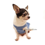 Blue Dog Clothes Crochet, Cotton Dog Clothes