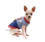 Pirates dog clothing crochet funny themed pet costume Myknitt