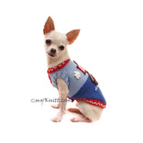 Custom dog clothing Captain Sailor Themed Myknitt