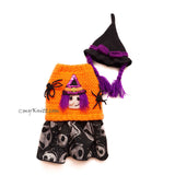 Cute Pet Costume Halloween Witch Hat Crochet Myknitt