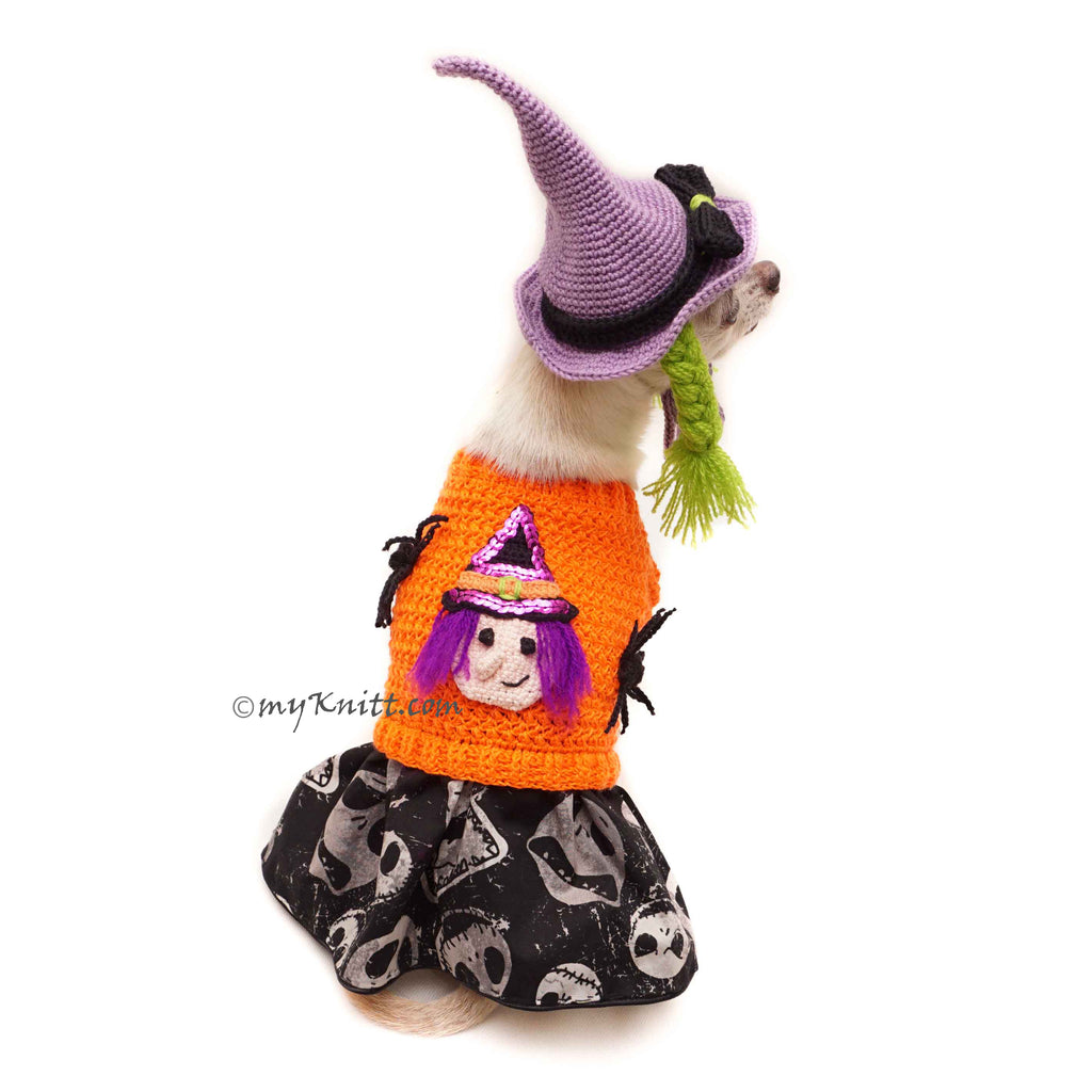 Witch Dog Hat , Witch Pet Costume, Funny Pet Halloween Costume Df169 Myknitt