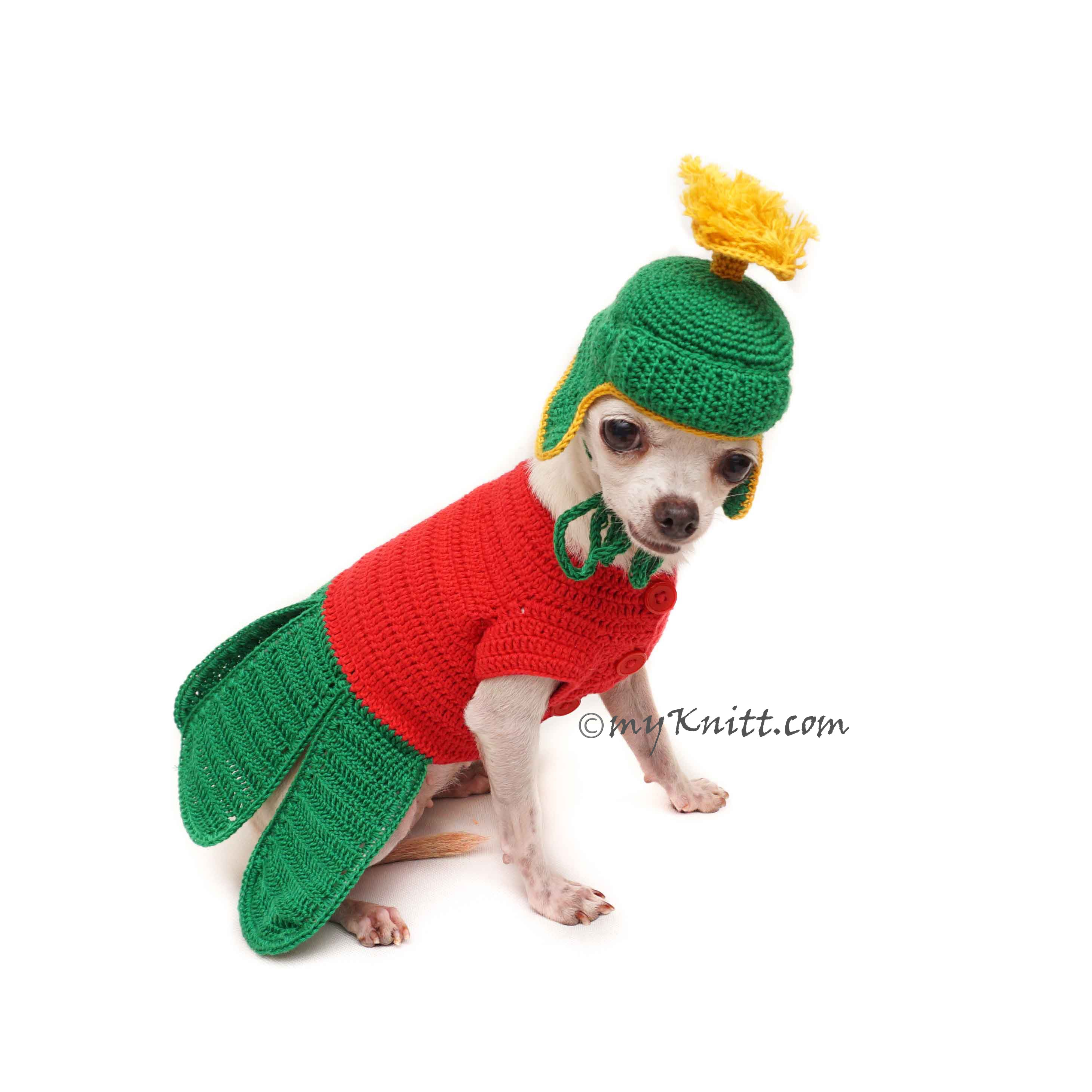 Marvin The Martian Costume for Pets, Crochet Pet Costume for Photo Props DF170 Myknitt