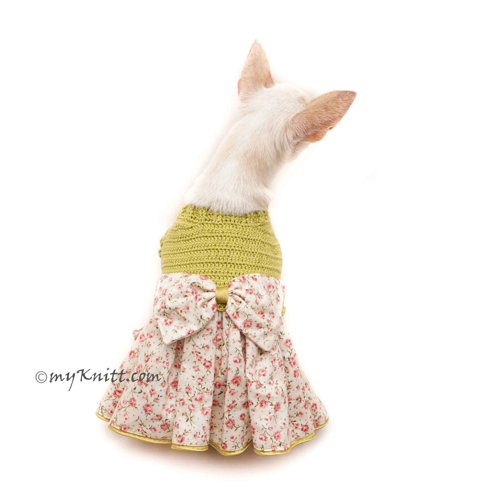 Japan Flower Kimono Dog Dress Crochet Df173 Myknitt