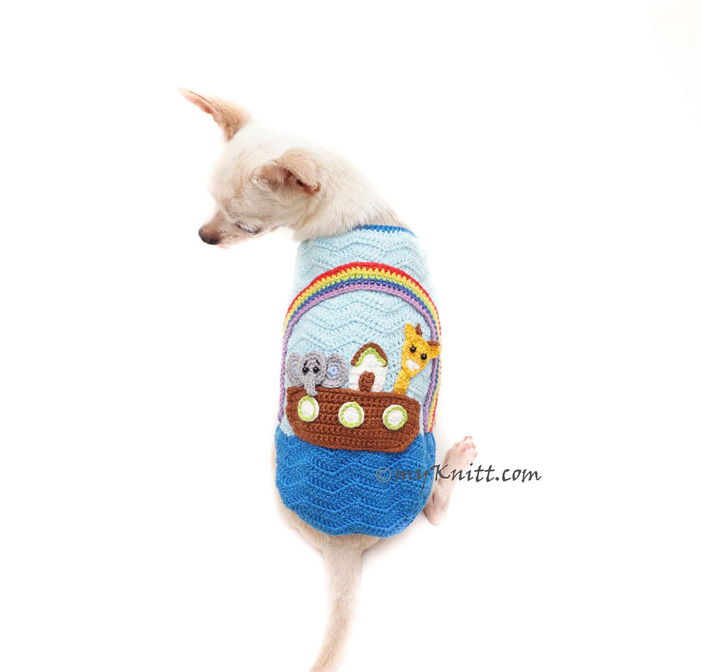 Noahs Ark Crochet Themed Pet Costume Crochet Handmade DF179 Myknitt