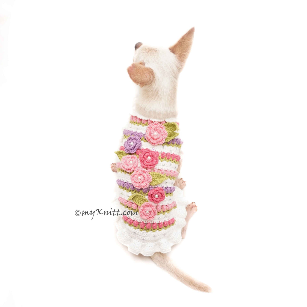 Rosebuds Crochet Dog Clothes Handmade DF180 Myknitt