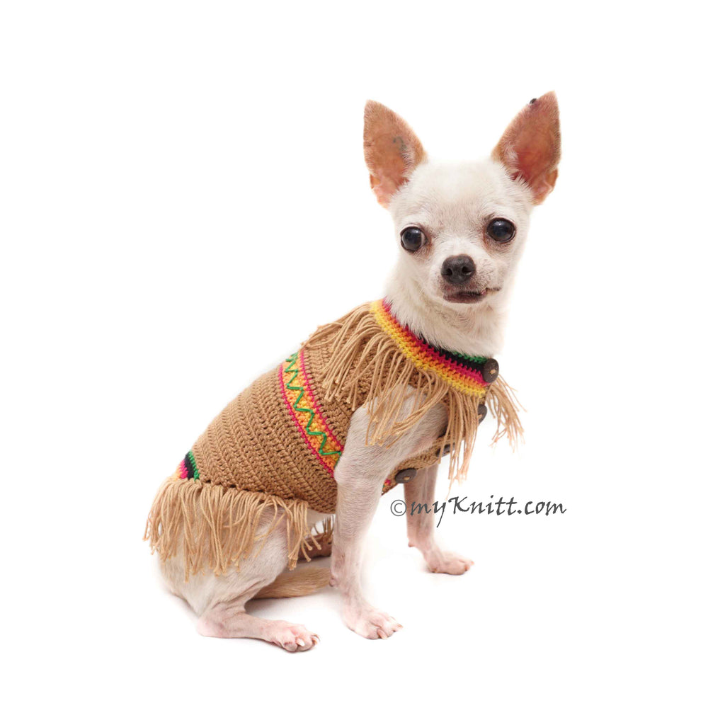 Pocahontas Pet Costume Handmade Crochet Cat Dog Clothes DF181