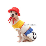 toy story cowboys costume for dogs cats, myknitt designer dog clothes