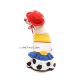 Jesse Toy Story Costume for Dogs Cats, Cowboys Dog Hat Crochet, Funny Halloween Costume DF186 Myknitt