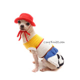 cute dog clothes, funny pet costume halloweeen, cowboys costume for pets by Myknitt