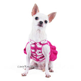 Pink Dog Dress Wavy Skirts Cute Chihuahua Clothes DF71