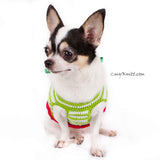 Christmas Overalls Dog Sweater with Big Bows DF78 by Myknitt (2)