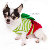 Christmas Overalls Dog Sweater with Big Bows DF78 by Myknitt (3)