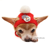 Snowman Dog Costume with Matching Pom Pom Hat Christmas DF90  by Myknitt (5)