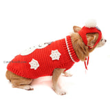 Snowman Dog Costume with Matching Pom Pom Hat Christmas DF90  by Myknitt (2)