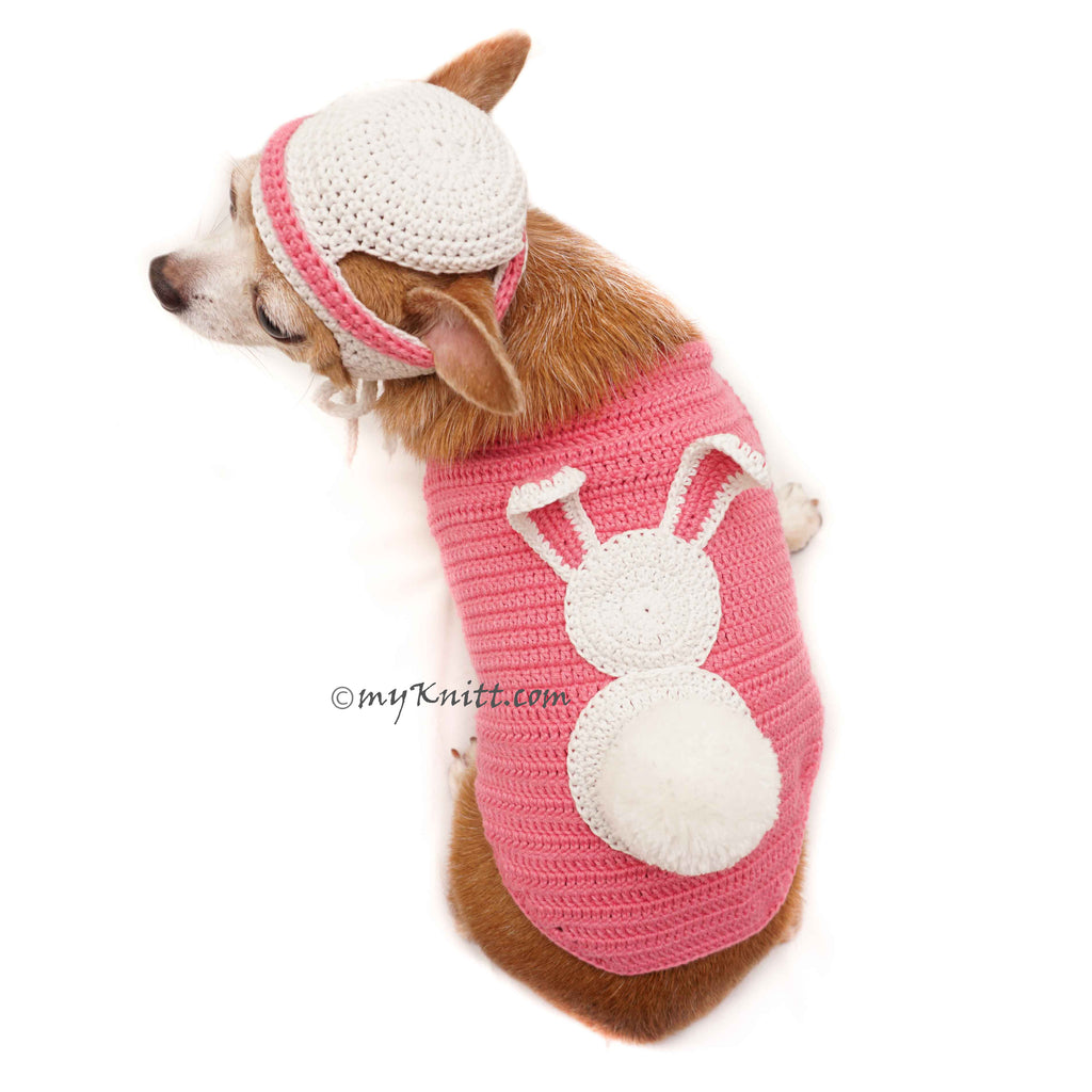 Bunny Costume for Halloween Cute Dog Clothes Rabbit with Matching Hat DF91