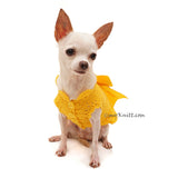 Yellow Victorian Ruffled Dog Dress Elegant Pet Costume DF92 by Myknitt (1)